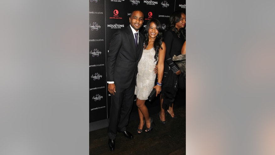 "October 12, 2012. Nick Gordon and Bobbi Kristina Brown attending the premiere party for ""The Houstons On Our Own"" in New York.  A rep for the family confirmed Friday Jan. 10, 2014, that the 20-year-old Brown married Gordon."