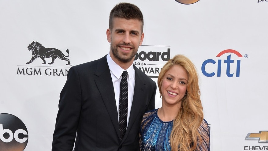 Shakira and soccer player Gerard Pique on May 18, 2014 in Las Vegas, Nevada.