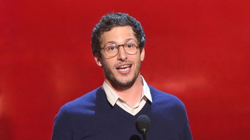 "FILE - This June 7, 2014 file photo shows Andy Samberg at the Guys Choice Awards at Sony Pictures Studios in Culver City, Calif. Samberg wants ousted Saturday Night Live"" cast members to know there is life after the comedy show. Noël Wells and John Milhiser and Books Wheelan have all been let go from the sketch comedy series. Talking to journalists Wednesday , July 16, at a set visit for his sitcom ""Brooklyn Nine-Nine"", Samberg said, ""If you were hired... there's something good going on with you so whether or not the timings right doesn't mean you're not gonna go on to great things.""  (Photo by Paul A. Hebert/Invision/AP, File)"