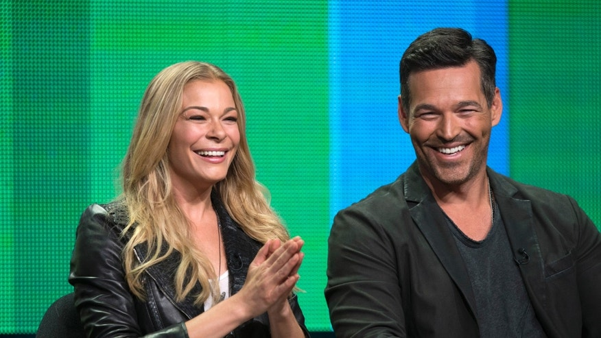 "July 11, 2014. LeAnn Rimes and her husband Eddie Cibrian attend a panel for the VH1 television series ""LeAnn & Eddie"" during the Television Critics Association Cable Summer Press Tour in Beverly Hills, California."