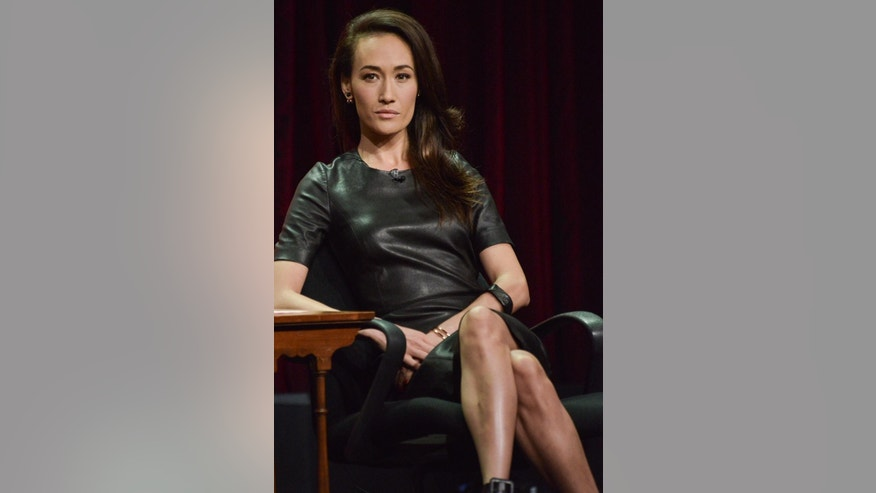 "Maggie Q on stage during the ""Stalker"" panel at the CBS 2014 Summer TCA  held at the Beverly Hilton Hotel on Thursday, July 17, 2014, in Beverly Hills, Calif. (Photo by Richard Shotwell/Invision/AP)"