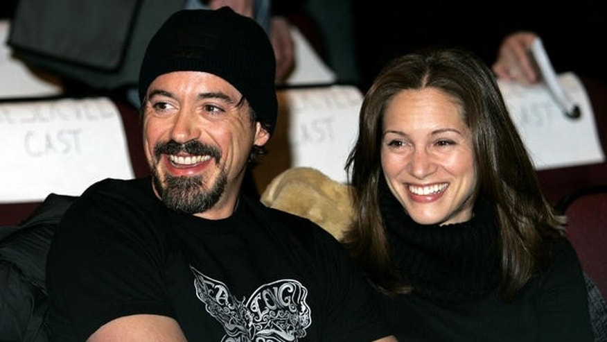 Robert Downey Jr. and Susan Levin (l-r), husband and wife (AP)