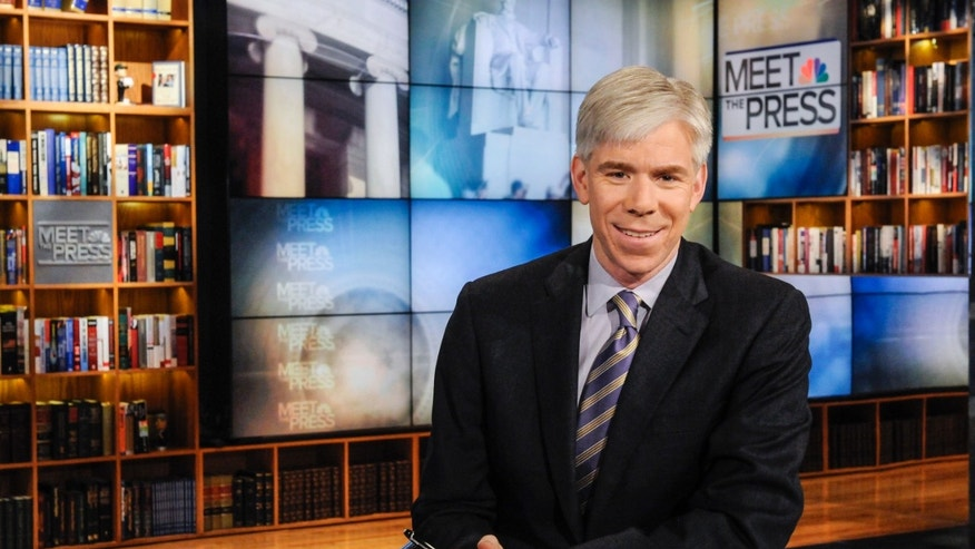 "Feb. 24, 2013. David Gregory on the set of ""Meet the Press,"" in Washington."