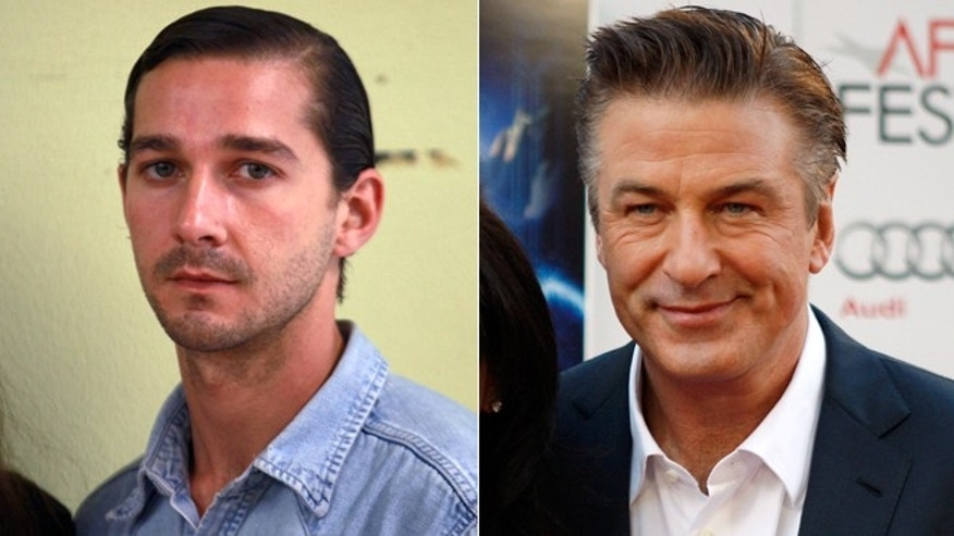 Shia LaBeouf, left, and Alec Baldwin, right.
