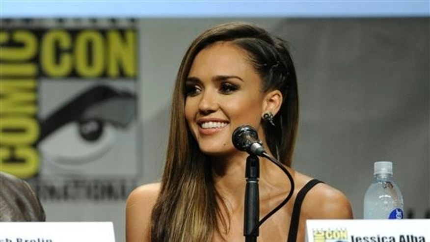 "Jessica Alba attends the ""Sin City: A Dame To Kill For"" panel on Day 3 of Comic-Con International on Saturday, July 26, 2014, in San Diego. (Photo by Chris Pizzello/Invision/AP)"