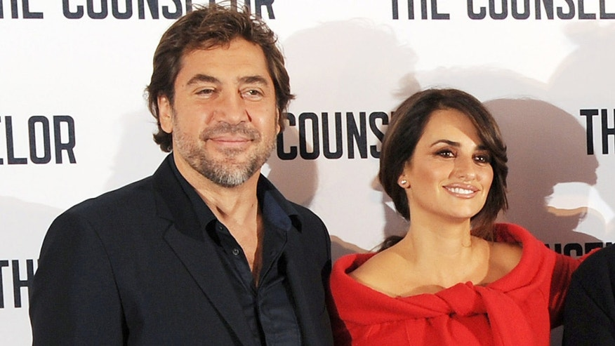 Javier Bardem and Penelope Cruz on October 5, 2013 in London, England.