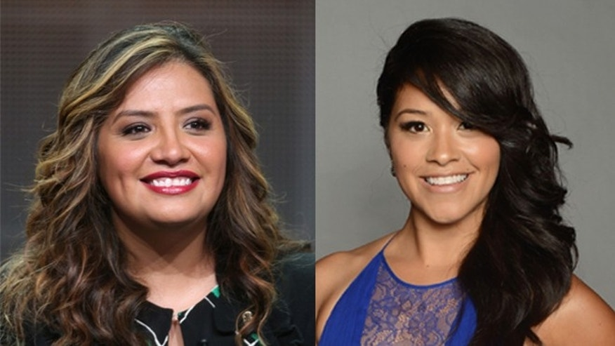 Cristela Alonzo (right), Gina Rodriguez (left)