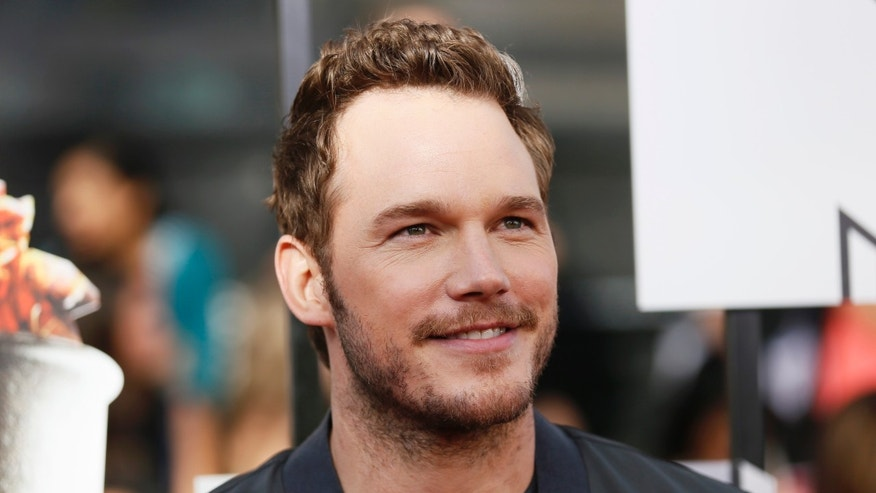 Actor Chris Pratt arrives at the 2014 MTV Movie Awards in Los Angeles, California  April 13, 2014.  REUTERS/Danny Moloshok  (UNITED STATES - Tags: Entertainment) (MTV-ARRIVALS) - RTR3L4LT
