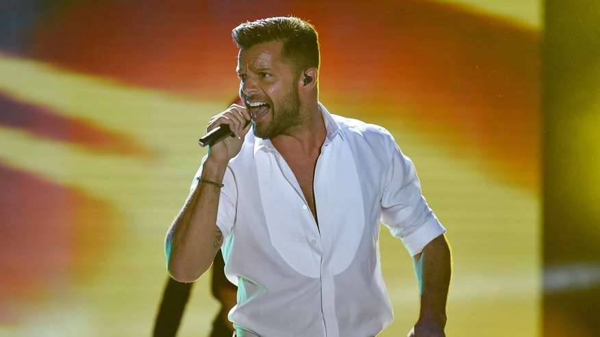 MONTE-CARLO, MONACO - MAY 27:  Ricky Martin performs during the ceremony of the World Music Awards 2014 at Sporting Monte-Carlo on May 27, 2014 in Monte-Carlo, Monaco.  (Photo by Pascal Le Segretain/Getty Images)
