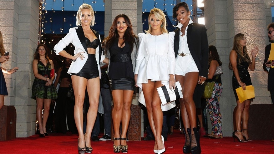 Danity Kane pose as they arrive for the 2013 MTV Video Music Awards in New York August 25, 2013.