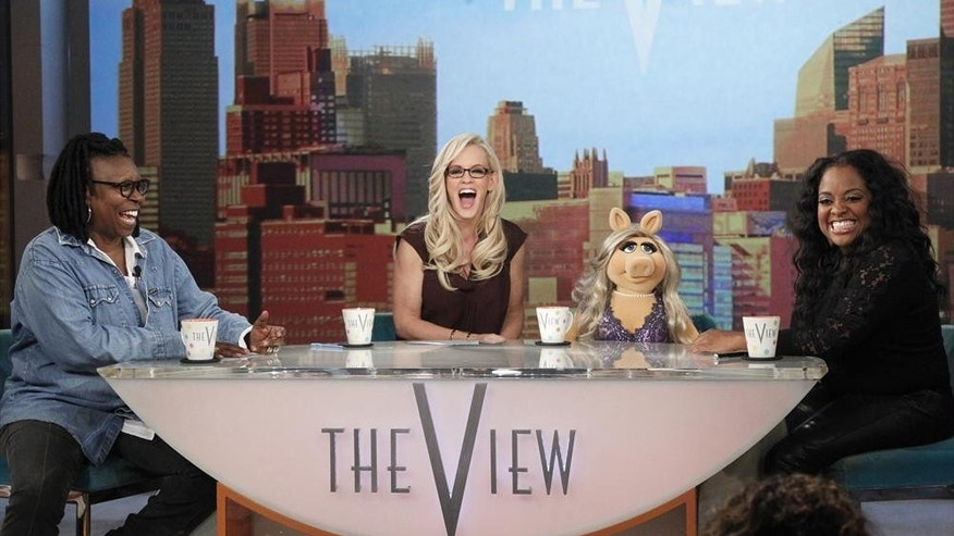 "Whoopi Goldberg, Jenny McCarthy and Sherri Shepherd on ""The View."""
