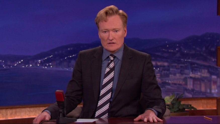 "Late night television show host Conan O'Brien on his TBS show ""Conan."""