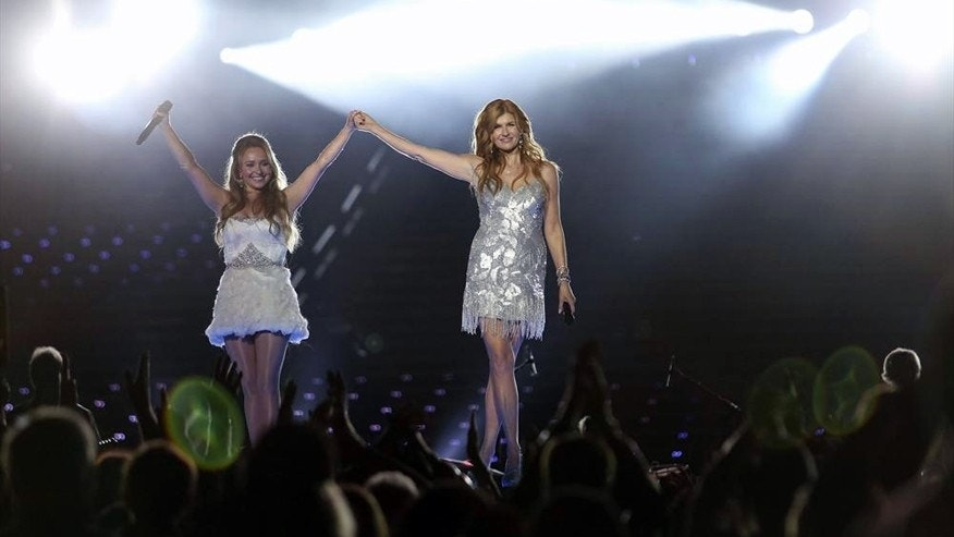 "Hayden Panettiere (L) and Connie Britton (R) in ""Nasvhille."""