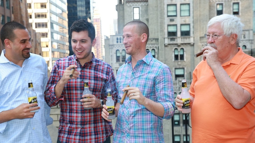 Aug. 9, 2014: 'Bachelor' star J.P. Rosenbaum at his dad-chelor party in New York City. (Mike's Hard Lemonade)