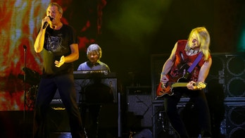 Singer Ian Gillan (L) and guitarist Steve Morse of rock band Deep Purple perform during the 12th Mawazine World Rhythms international music festival in Rabat May 30, 2013. REUTERS/Youssef Boudlal    (MOROCCO - Tags: ENTERTAINMENT) - RTX106L6