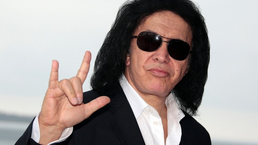 Gene Simmons of the rock band Kiss.