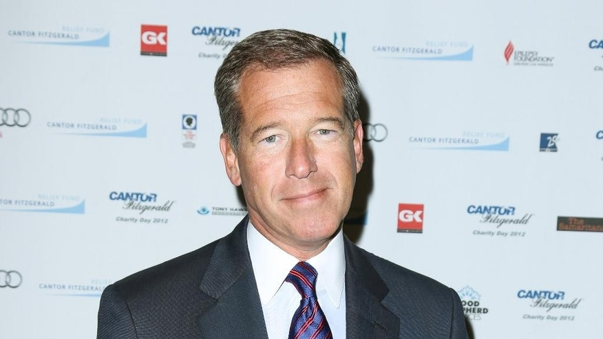 "FILE - This Sept. 11, 2012 file image released by Starpix shows Brian Williams at the Cantor Fitzgerald Charity Day event in New York. Williams anchors ""NBC Nightly News with Brian Williams,"" on NBC.  (AP Photo/Starpix, Andrew Toth)"