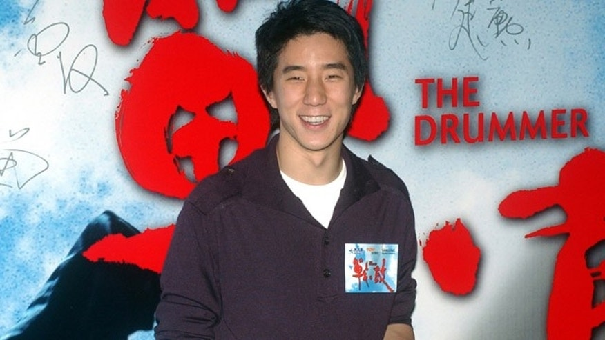 FILE - In this Oct. 8, 2007 file photo, Hong Kong actor Jaycee Chan poses for a photo upon arrival at 'The Drummer' premiere at Hong Kong Convention & Exhibition Centre. ( AP Photo/Lo Sai Hung, File )