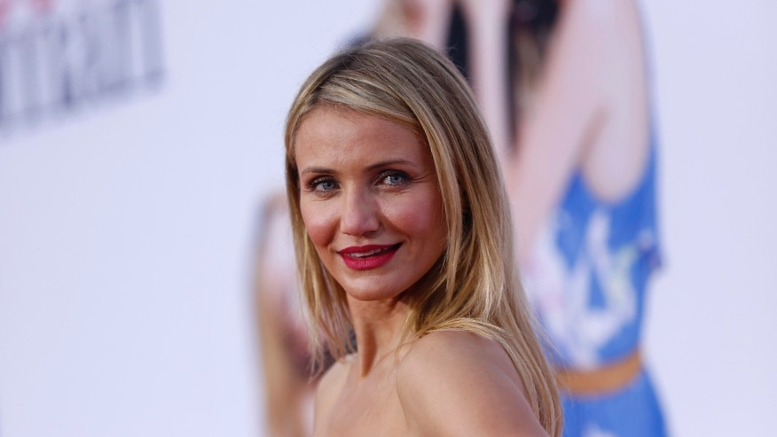 "April 21, 2014. Cameron Diaz poses at the premiere of the film ""The Other Woman"" in Los Angeles, California."