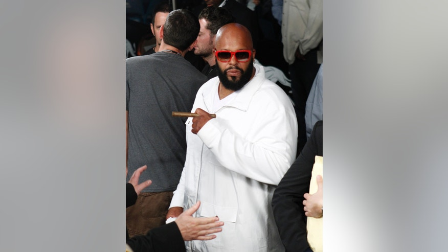 May 5, 2012: CEO of Black Kapital Records Suge Knight is seen following the Miguel Cotto and Floyd Mayweather Jr. title fight at the MGM Grand Garden Arena in Las Vegas, Nevada. (Reuters)