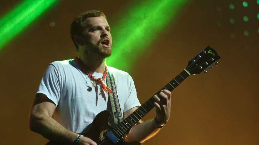 Aug. 3, 2014. Caleb Followill of Kings of Leon performs at Lollapalooza in Chicago's Grant Park.