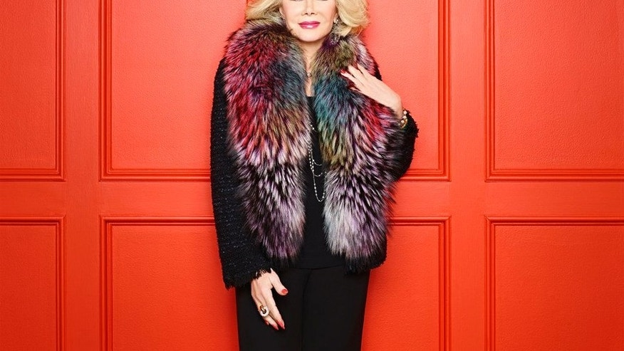 "Joan Rivers is seen in this ""Fashion Police"" promotional photo. (Photo by: Brian Bowen Smith/E!)"