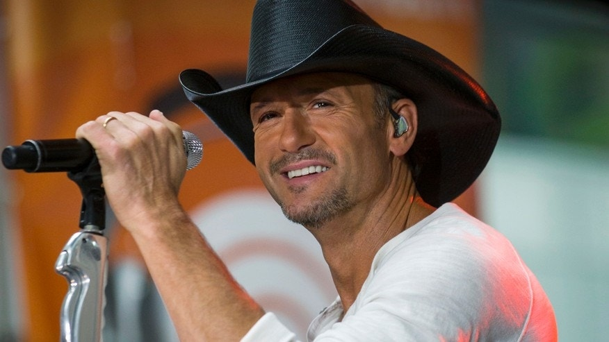 Country singer Tim McGraw.