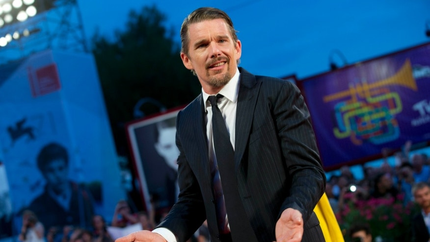 "September 5, 2014. Actor Ethan Hawke arrives for the screening of the movie ""Good Kill,"" at the 71st edition of the Venice Film Festival in Venice, Italy."