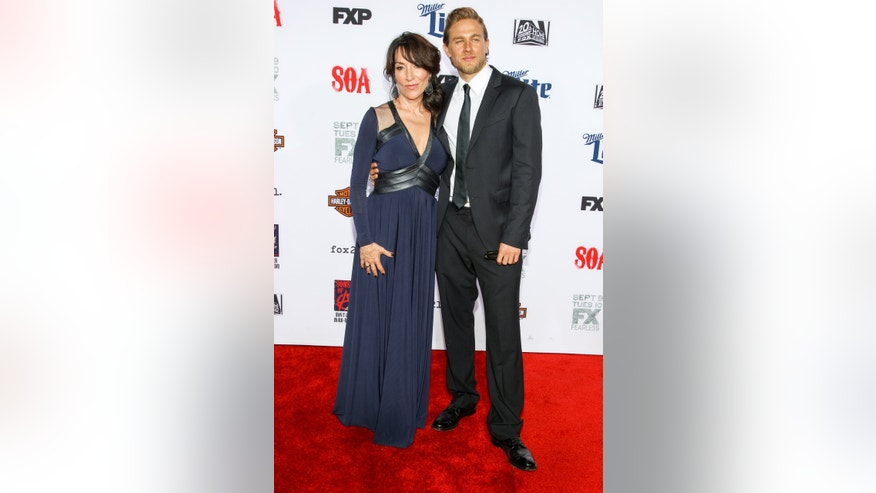 "September 6, 2014. Katey Sagal, left, and Charlie Hunnam attend the LA Premiere Screening of ""Sons Of Anarchy"" at at TCL Chinese Theatre in Los Angeles."