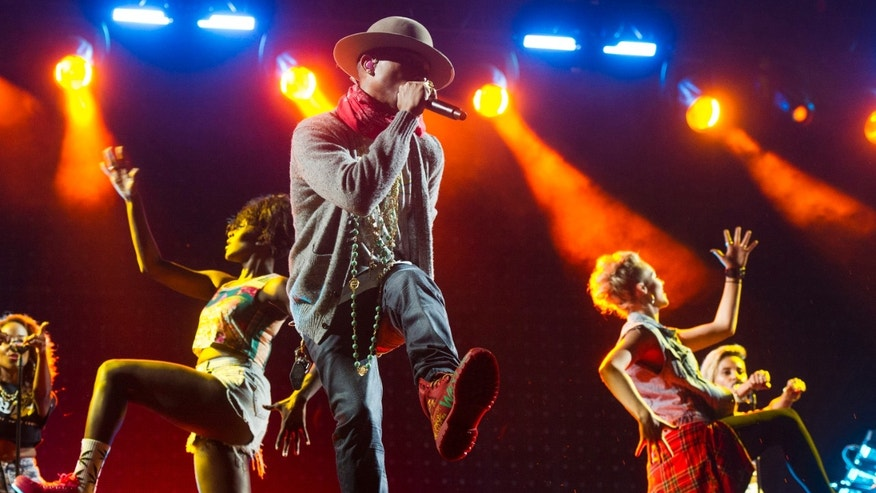 August 31, 2014. Pharrell Williams performs on Day 2 of the Budweiser Made in America Festival on Sunday in Philadelphia.