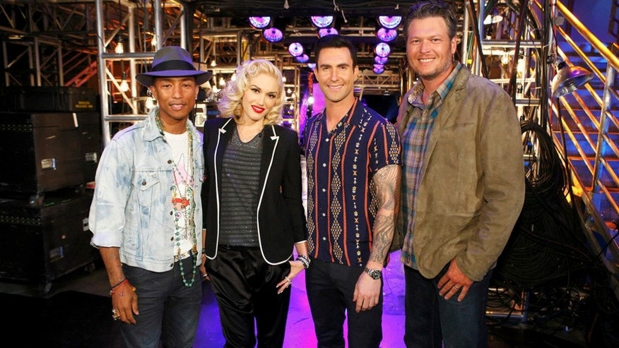 """The Voice"" coaches, from left, Pharrell, Gwen Stefani, Adam Levine and Blake Shelton."