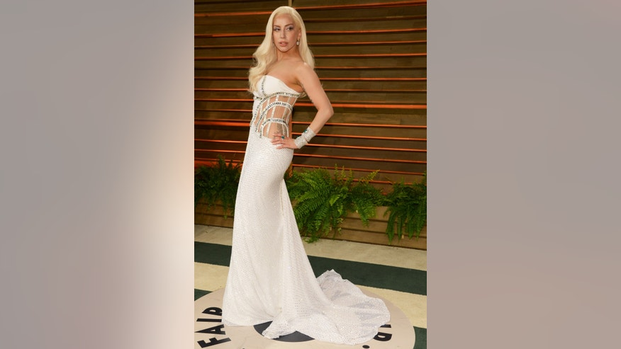 March 2, 2014. Lady Gaga attends the 2014 Vanity Fair Oscar Party, in West Hollywood, Calif.