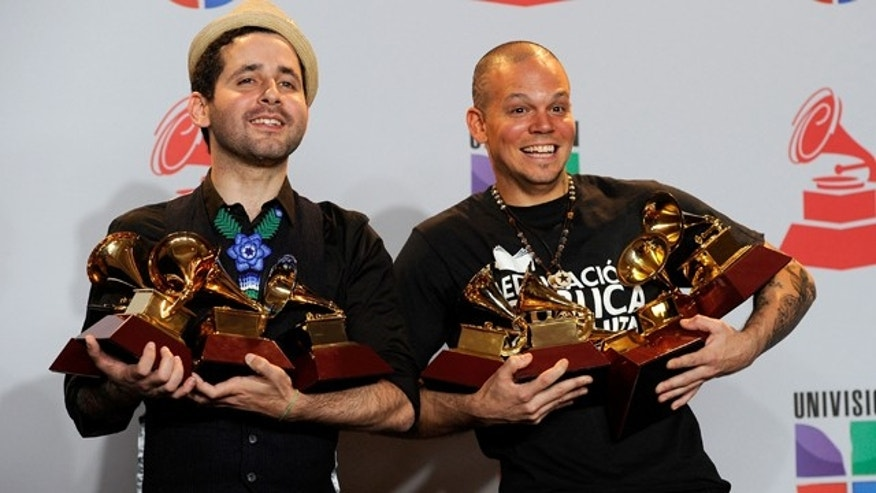 poses in the press room during the 12th annual Latin GRAMMY Awards at the Mandalay Bay Resort & Casino on November 10, 2011 in Las Vegas, Nevada.