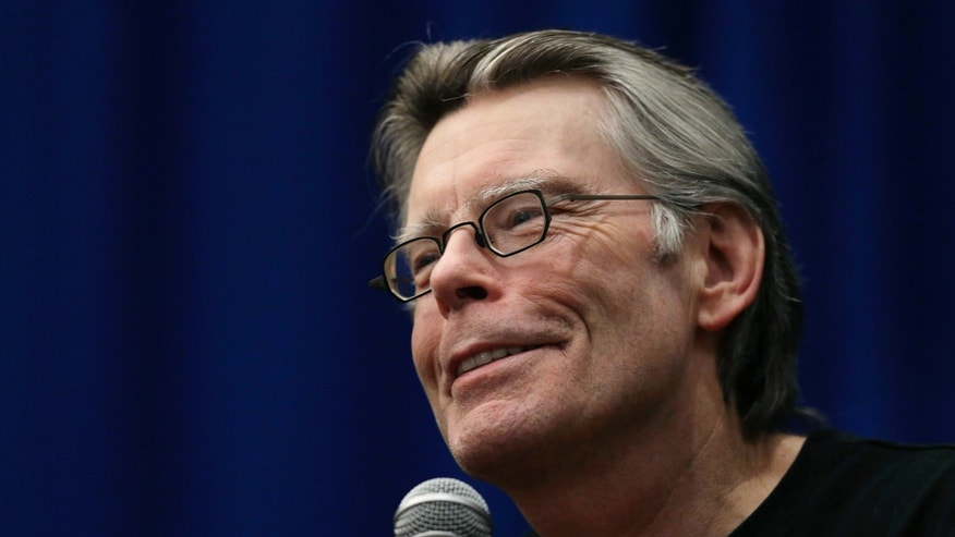 Dec. 7, 2012. Stephen King speaks to creative writing students at the University of Massachusetts-Lowell in Lowell, Mass.
