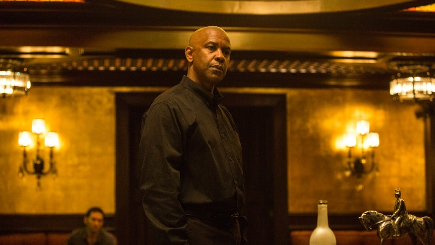"Denzel Washington appears in a scene from the film ""The Equalizer."""