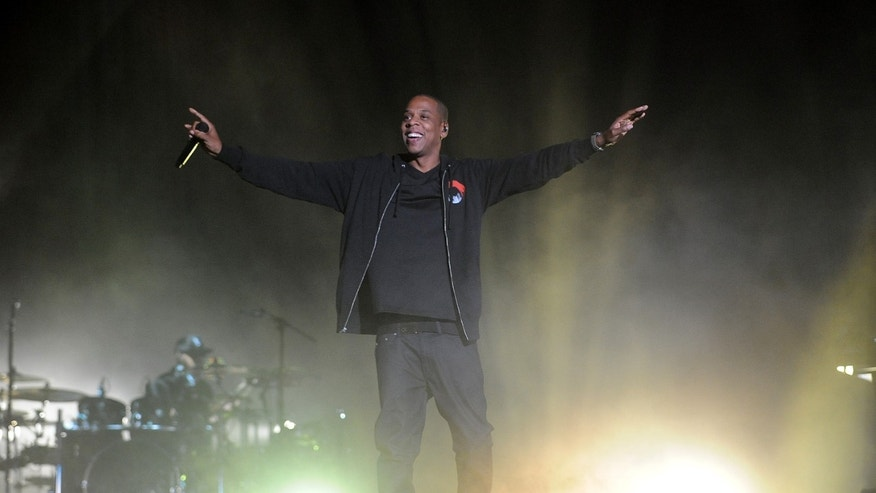 Sept 27, 2014. Jay-Z performs during the 3rd Global Citizen Festival at Central Park in New York on Saturday, Sept. 27, 2014.