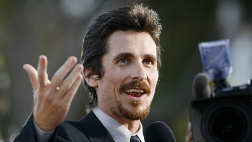 "Cast member Christian Bale is interviewed at the premiere of the movie ""Public Enemies"" at the Mann Village theatre in Westwood, California June 23, 2009. The movie opens in the U.S. July 1.  REUTERS/Mario Anzuoni   (UNITED STATES ENTERTAINMENT)"