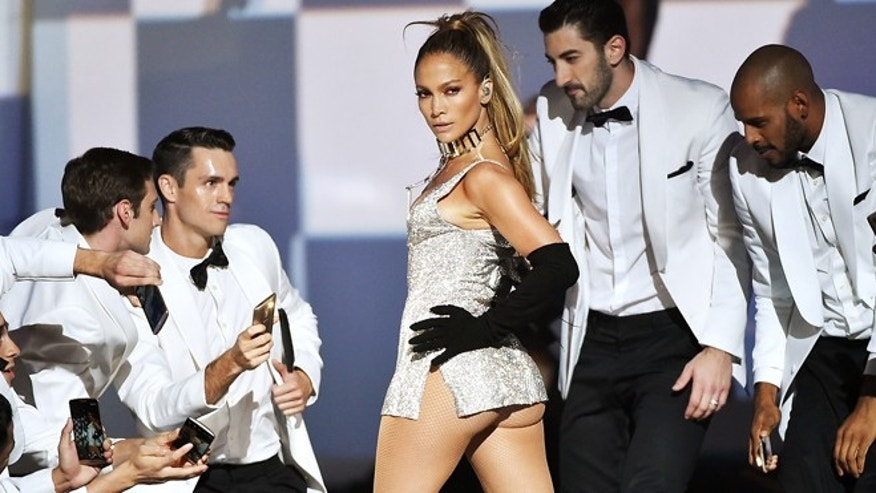 NEW YORK, NY - SEPTEMBER 09:  Jennifer Lopez performs onstage at Fashion Rocks 2014 presented by Three Lions Entertainment at the Barclays Center of Brooklyn on September 9, 2014 in New York City.  (Photo by Theo Wargo/Getty Images for Three Lions Entertainment)
