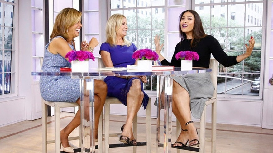 "Pictured: (l-r) Hoda Kotb, Kathie Lee Gifford and Jordin Sparks appear on NBC News' ""Today"" show."