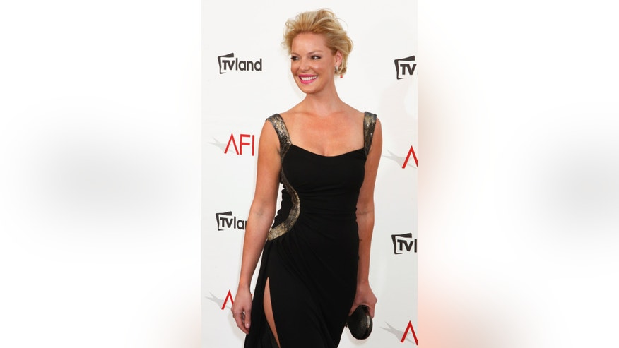 Actress Katherine Heigl arrives at the TV Land cable channel taping of the AFI Life Achievement Award honoring actress Shirley MacLaine in Los Angeles June 7, 2012.