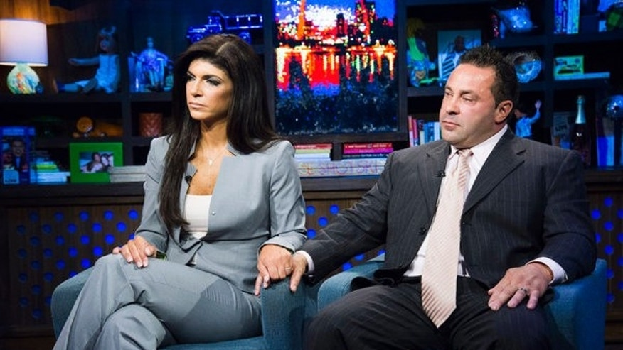 WATCH WHAT HAPPENS LIVE -- Episode 10056 -- Pictured: (l-r) Teresa Giudice, Joe Giudice -- (Photo by: Charles Sykes/Bravo)