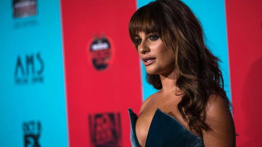 "Actress Lea Michele poses at the premiere of ""American Horror Story: Freak Show"" in Hollywood, California October 5, 2014. The fourth season premieres on FX on October 8. REUTERS/Mario Anzuoni  (UNITED STATES - Tags: ENTERTAINMENT) - RTR491Q7"