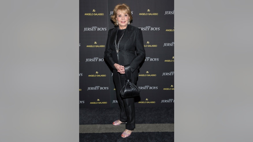 "June 9, 2014. Barbara Walters attends the premiere of ""Jersey Boys"" in New York."