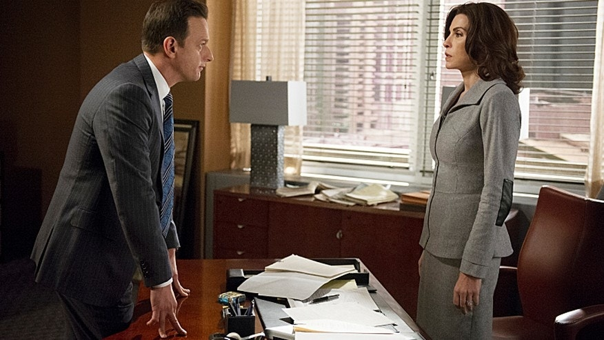 "Julianna Margulies, right, as Alicia Florrick and Josh Charles as Will Gardner on ""The Good Wife."""