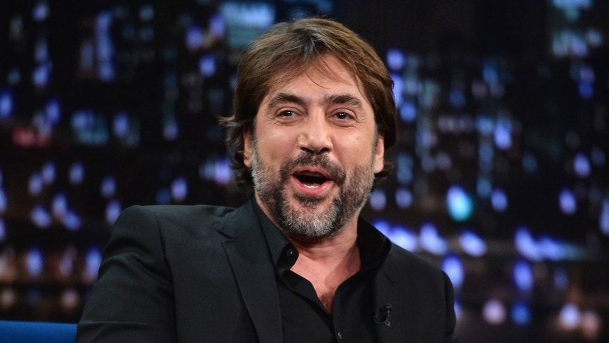 "Javier Bardem visits ""Late Night With Jimmy Fallon"" at Rockefeller Center on October 24, 2013."