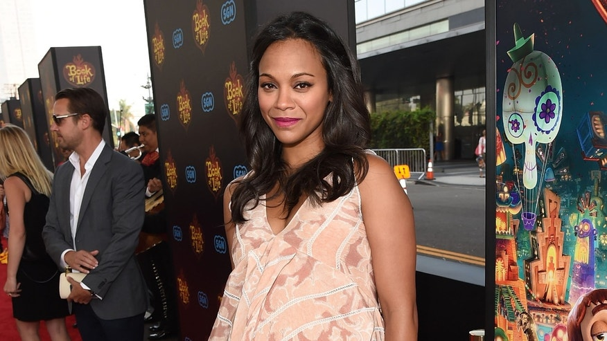 Actress Zoe Saldana on Sun, Oct 12, 2014, in Los Angeles.