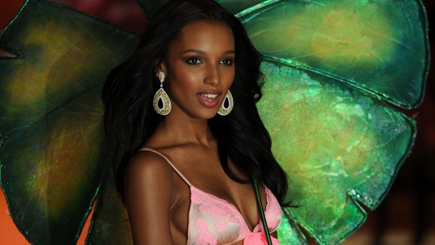 NEW YORK, NY - NOVEMBER 07:  Model Jasmine Tookes walks the runway during the Victoria's Secret 2012 Fashion Show on November 7, 2012 in New York City.  (Photo by Bryan Bedder/Getty Images for SWAROVSKI ELEMENTS)