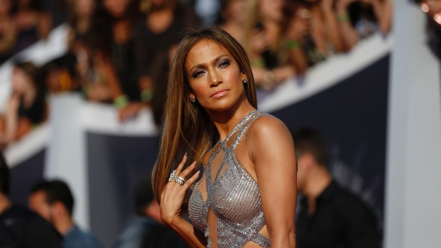 August 24, 2014. Jennifer Lopez arrives at the 2014 MTV Video Music Awards in Inglewood, California.