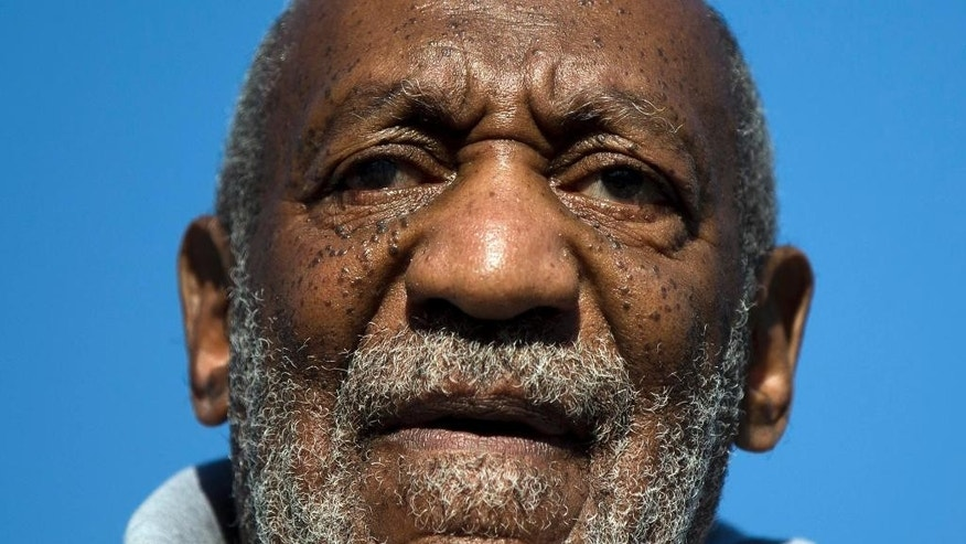 FILE -This Nov. 11, 2014, file photo shows entertainer and Navy veteran Bill Cosby speaking during a Veterans Day ceremony, at the The All Wars Memorial to Colored Soldiers and Sailors in Philadelphia. (AP Photo/Matt Rourke, File)