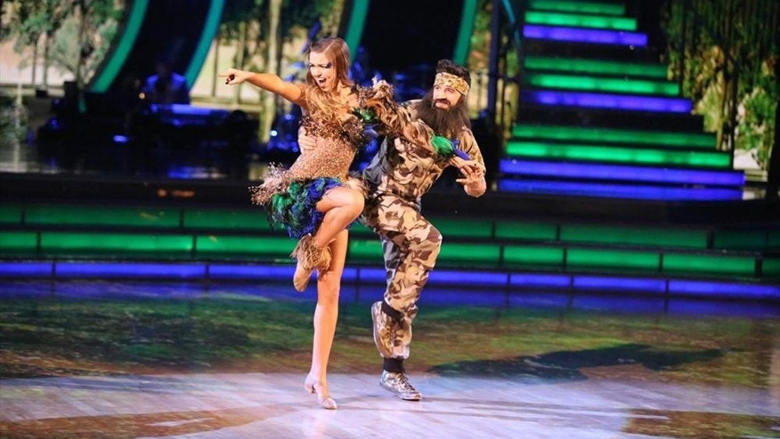 """Duck Dynasty's"" Sadie Robertson performs with her ""Dancing With the Stars"" partner Mark Ballas."
